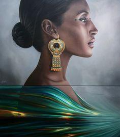 Egyptian Queen Hatshepsut by Christiane Vleugels    #painting #art