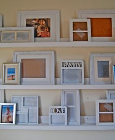 I want to make this!  DIY Furniture Plan from Ana-White.com  Simple gallery ledges that can transform a blank wall into an easy to display gallery. Gallery ledges are called $10 Ledges because each 8 foot long ledge is estimated to cost approximately $10 in lumber.