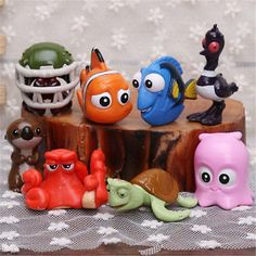 8pcs/set  Finding Nemo Dory PVC Action Figures Toy Doll Cake Toppers Xmas Gift