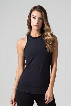 Aria Tank in Soft Black – Daub + Design Black Mesh, Racerback Tank, Basic Tank Top, Active Wear, Dress Up, Just For You, Tank Tops, Giveaway, Cotton