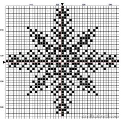 Snowflake #2 cross stitch chart