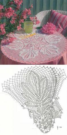 Crochet Rug Tutorial Crafts Ideas For 2019 Free Crochet Doily Patterns, Crochet Doily Diagram, Crochet Mandala, Crochet Art, Crochet Home, Thread Crochet, Crochet Motif, Vintage Crochet, Crochet Designs