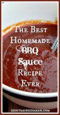Easy BBQ Sauce Recipe -- Easy Homemade sauce! #ad #alabamabbq
