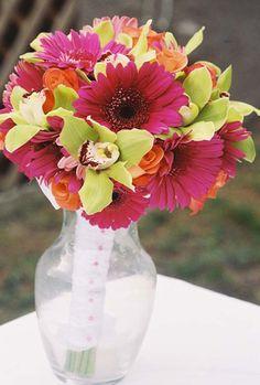 gerber daisy & orchid!!!!!!!