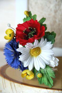 """Купить """"В СЕРЕДИНЕ ЛЕТА...ГДЕ-ТО"""" - текстильная брошь, цветок, цветоделие, текстильное украшение"""