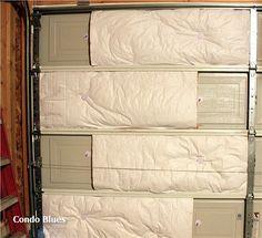 How to insulate the garage door