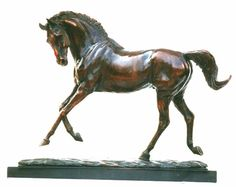 """Kensal, 10"""" at shoulder, private commission in bronze by Tanya Russell"""