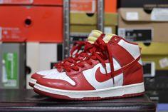 premium selection 7b403 08d4b RARE Mens Size 9.5 Nike Dunk High LE St. John WhiteRed (1999