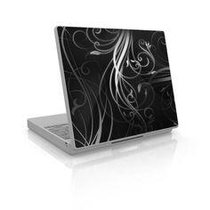 Black swirly vinyl for laptop