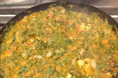 Empty the Freezer Challenge week 3 saag paneer spinach curry