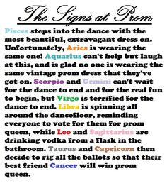 the signs at prom