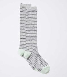 26cddbaa23e Shop LOFT for stylish women s clothing. You ll love our irresistible  Flecked Striped Boot Socks - shop LOFT.com today!