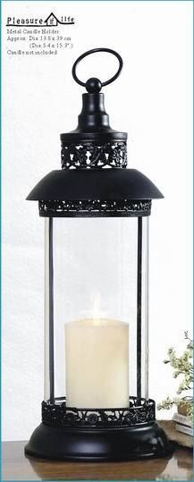 Metal Lantern with Glass Tube