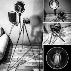 Lamp industrial steampunk photo camera Supernal Garage DG
