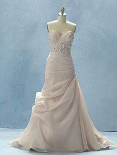 Love this pale pink wedding dress