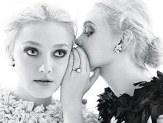 How awesome would it be to be a high-fashion model and a successful actress... all while doing it with your sister? Lucky Fanning girls