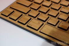 Impecca's Bluetooth Mac keyboard made of bamboo.  #kayak tusuk sate :-D
