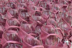 Wine glasses ready for tasting!