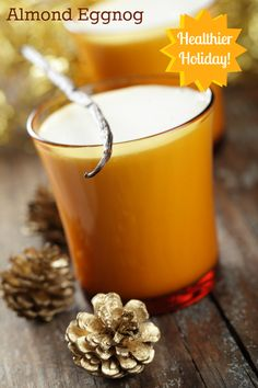 """healthy almond eggnog  With homemade almond milk in the vita-mix. What my kids call """"snowman milk"""""""