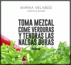 Mezcal y verduras
