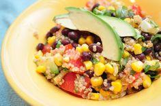 Black Bean and Avocado Lime Quinoa