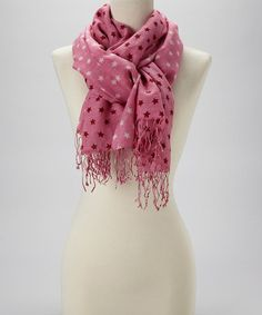 Take a look at this Fuchsia Star Wool-Silk Blend Scarf by Kitara on #zulily today!