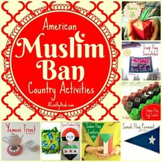 A Crafty Arab: American Muslim Ban Country Activities {Resource}. Last Friday, the president of the United States issued an executive order to place a travel ban on Muslims entering from 7 countries in the Middle East and North Africa (MENA): Iran, Iraq, Libya, Somalia, Sudan, Syria, and Yemen. Some have argued that the ban is against all travelers and not only Muslims, however the …