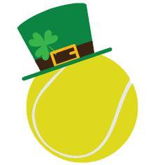 Happy St.Patrick's Day tennis ball.