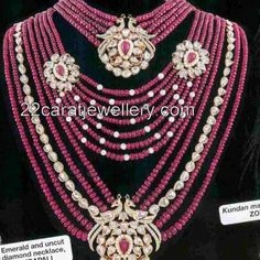 Jewellery Designs: Ruby Beads Heavy Jewelry