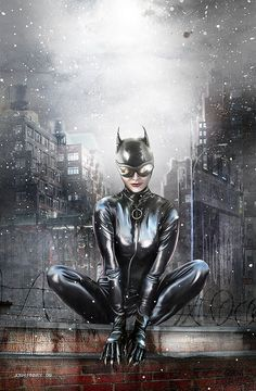 Catwoman posing in a snow day in Gotham. Batgirl, Batman Und Catwoman, Batwoman, Joker, Catwoman Cosplay, Cosplay Gatúbela, Comic Book Characters, Comic Character, Comic Books Art