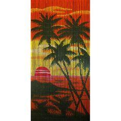 Island Sunset Is A 90 X 200cm Beaded Door Curtain Featuring An Idyllic  Scene Of A