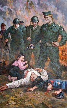 Anti-American propaganda poster from North Korea