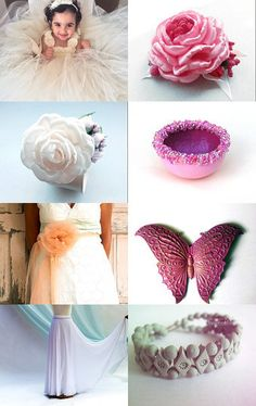 cream and pink by Linda Donnelly on Etsy--Pinned with TreasuryPin.com