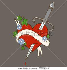 Image result for tattoo cartoon heart