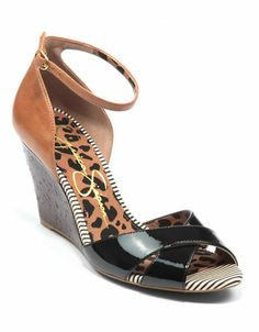 Lina Hookano found this pin re:  Jessica Simpson Nouta Leather Wedge Sandals Black