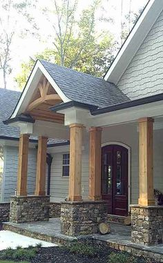 https://www.architecturaldesigns.com/house-plans/luxurious-lodge-like-living-12261jl   I like hoe the ceiling of the entry is covered in wood.