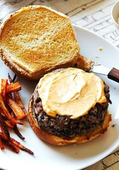 Spicy Black Bean Burgers & Parsnip Fries ★