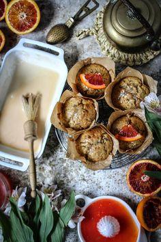 blood orange poppy seed muffins with earl grey tea glaze