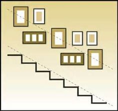 properly hung staircase display is quite appealing!