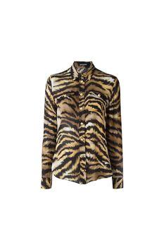 {Balmain / 01 clothing / 02 top / 02 shirt} Tiger Print Shirt