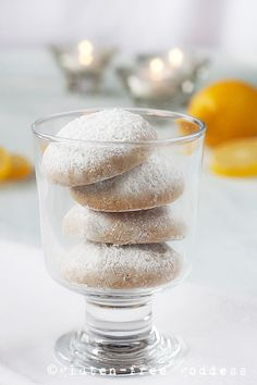 Snowy Lemon Cookies - Gluten-Free and Dairy-Free.  Lots of recipes!
