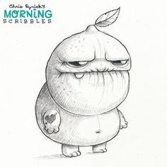 Grumpy Lemon is super sour right now. #morningscribbles