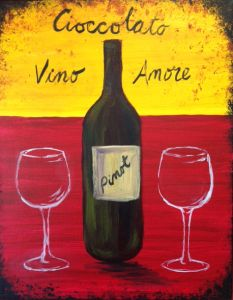 PINOT'S PALETTE. ALAMEDA. PAINT. DRINK. HAVE FUN. Paint Vino, Cioccolato, Amore Friday Jan. 22 at 7pm