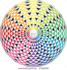 Geometric eye mandala rainbow