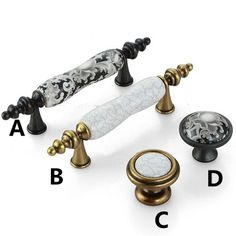 """Find More Handles & Knobs Information about 76mm white black ceramic furniture handle crack porcelain kitchen cabinet drawer pull knob 3"""" black antique brass handle bronze,High Quality brass hookah,China brass badge Suppliers, Cheap handle for from Bright home decoration co.,ltd on Aliexpress.com"""
