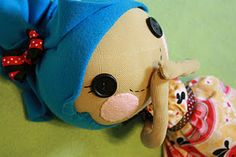 """""""REAL""""  rag doll.  The type on which LaLa Loopsy is based.  Make your own like grandma did."""