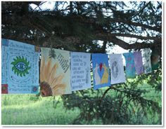 Prayer Flags  http://felting.craftgossip.com/2014/04/28/prayer-flags-part-1-2-3-4-tutorials/
