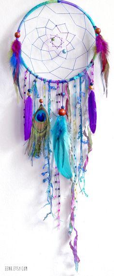 The Peacock Native Woven Dreamcatcher. $59.00, via Etsy.