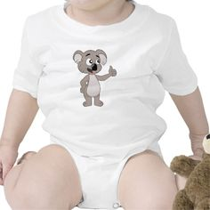 Infant Creeper with koala bear cartoon