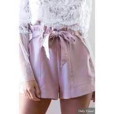 Sweet High-rise Sash-tie Waist Shorts In Pink by Yoins High Waisted Shorts Outfit, Shorts Casual, Tie Waist Shorts, Tie Dye Shorts, Pink Shorts, Short Outfits, Short Dresses, Cute Outfits, Short Tie Dye